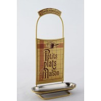 """Le Viandier Delightful"" Pan Lid rest with French theme"