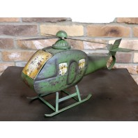 Vintage Rustic Helicopter Ornament