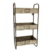 Vintage Rustic Workshop Wall Shelves