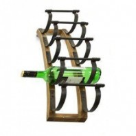 """Vintage Style"" Five Bottle Wall Mounted Wine Rack"
