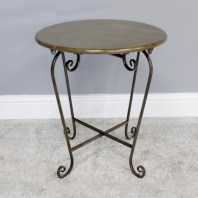 Vintage Scrolled Side Table
