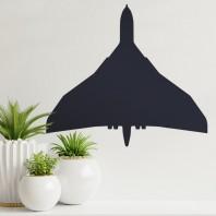 Black 'Vulcan' Aircraft Wall Art