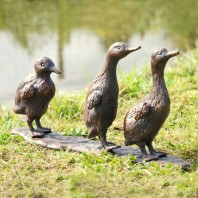 Walking Ducklings Garden Ornament