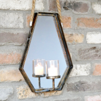 Wall Hanging Mirror Candle Holder