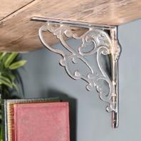 Art Nouveau Bright Chrome Shelf bracket 21 x 19cm