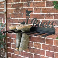 Wall Mounted Robin Iron Boot Holder