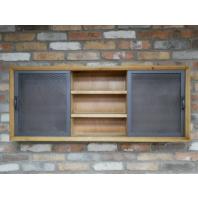 Wall Mounted Wood & Metal Cabinet & Shelf Unit