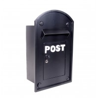 "The ""Bayswater"" Black Built In Post Box"