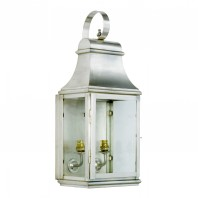 """Warrington"" Antique Silver Wall Lantern"