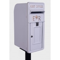 'Original Reproduction' White Elizabeth Regina Post & Parcel Box