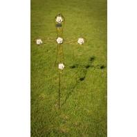 Cream Roses Memorial Cross