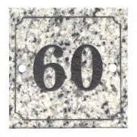 White & Black Granite House Sign