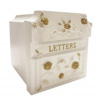White Finsbury Letter Box (English Roses)