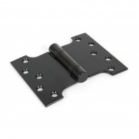 Wide Black Iron Parliament Hinge Pair
