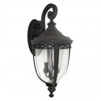 """""""Winsford"""" Large Top Fix Black Garden Wall Light"""