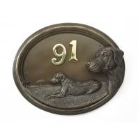 """""""Winston"""" Rhodesian Ridgeback Bronze Number Plaque"""
