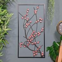 Wintersweet Floral Metal Wall Art