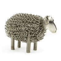 Polished Stainless Steel Wire Sheep Sculpture