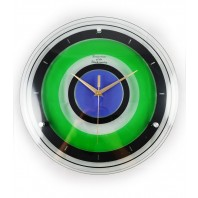 """Adris"" Lime Green and Blue Bathroom Wall Clock"