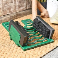 Green  Three in One Black Boot Jack Boot Brush and Scraper