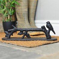 Black Cast Iron Bird on a Branch Boot Scraper