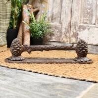 Pine Cone Rustic Boot Scraper