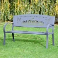 """You'll Never Walk Alone"" Liver Bird Grey Bench"