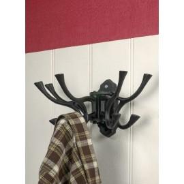 """""""Kynaston Avenue"""" Swivel Hook Rack in Black Iron"""