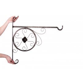 Deluxe Scroll & Flower Design Hanging Basket Bracket