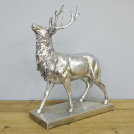 Silver Stag Table Ornament