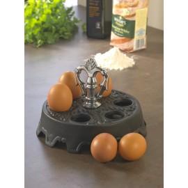 Edwina Cast Iron Egg Holder (Holds 6 Eggs)