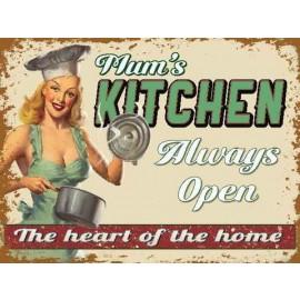 """""""Mums Kitchen"""" Metal Sign"""