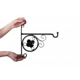 Scroll & Flower Design Hanging Basket Brackets & Baskets