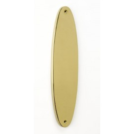 """Avabry"" Brass Oval Finger Plate"