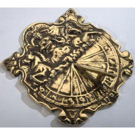 Antique Polished Brass 'Anaximander' Sundial - 310mm