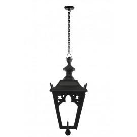 Black Gothic hanging garden lantern on chain