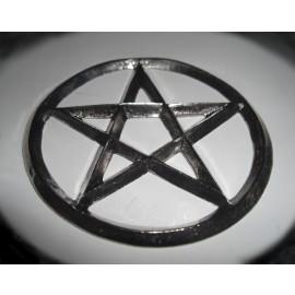 Pentagram Pewter Coaster