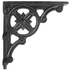"""""""Delpi"""" Iron Shelf Bracket 31cm x 28cm"""