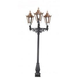 Triple Headed Hexagonal Lamp Post Set