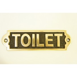 Solid Brass Toilet sign