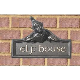 Elf House Name Sign