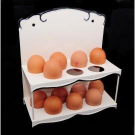 """Mollies Dresser"" Pretty, vintage, wall mounted, egg rack"