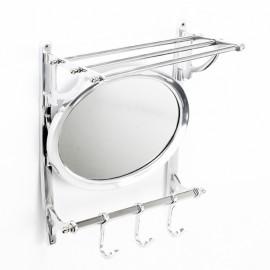"""Arlington"" Bathroom Shelf Rail, Mirror and Hook Rail."