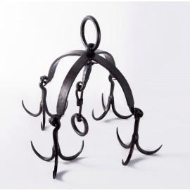 """Hemmingway Grange"" ""Game"" wrought iron hanging rack, with Tudor Styling"