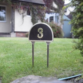 Solid Brass Lawn Numbers