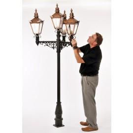 The Victorian Quadruple Lamp Post and Lantern Set
