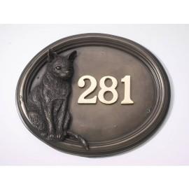 """""""Harranhal"""" Tom Cat House Number Sign"""