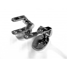 Bright Chrome Top Fix Seat Hinge Without Bar