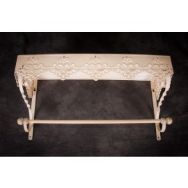 """""""Billows Cottage"""" Vintage styled towel rail, with canopy shelf"""