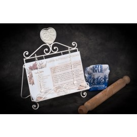 Heart Scroll Cook Book Stand